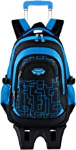 Wheeled Backpack, Fanspack Rolling Bacpack with 6 Wheels School Bags Bookbags