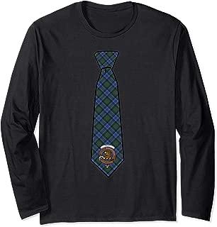 Baird Tartan Necktie & Clan Badge Long Sleeve T-Shirt
