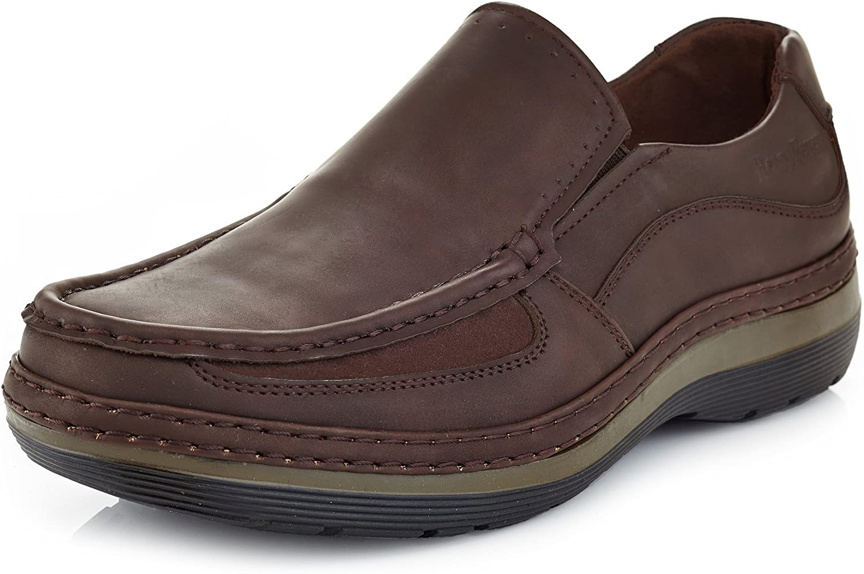 25b04097ea Solo Men's Brand Comfort Slip On Work shoes Parker 300 Casual ...