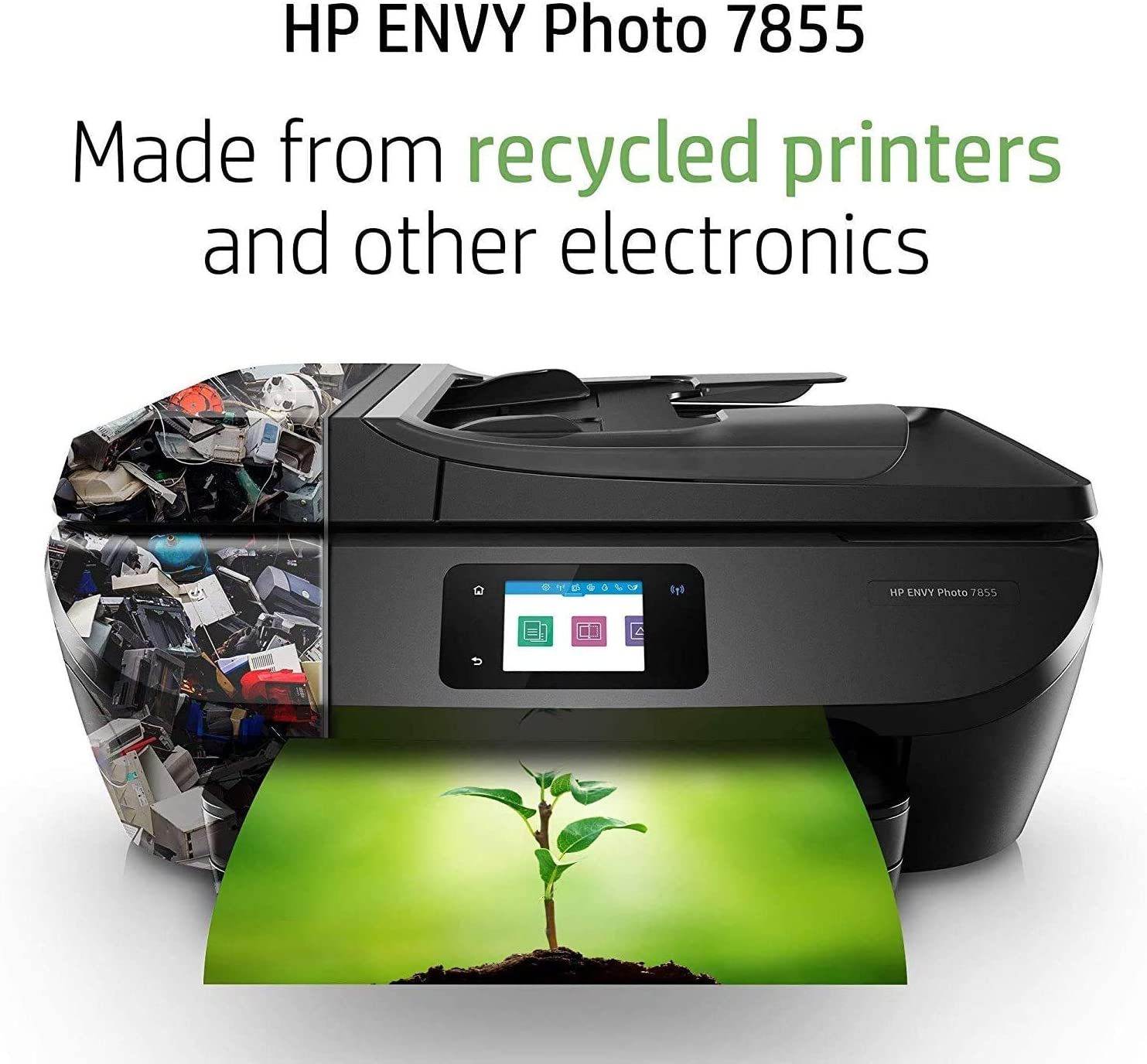 HP ENVY Photo 7855 All in One Photo Printer with Wireless Printing, HP Instant Ink ready, Works with Alexa (K7R96A)