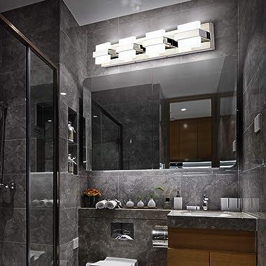 SOLFART Dimmable Modern 4 Lights LED Vanity Lights for Bathroom Wall Light Fixture Over Mirror