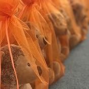 Produktpr/äsentation Bronze Schmuckbeutel Gr/ö/ße 30x20 cm Organzas/äckchen Unifarben mit Satinband zum Zuziehen 10 Organzabeutel Dekoration die ideale Geschenkverpackung