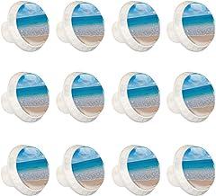 "12 Pack Ronde Keukenkast Knoppen Trekt (1-37/100"" diameter) - Strand Hart Ocean Sky Sea - Dressoir Lade/Deur Hardware - DI..."