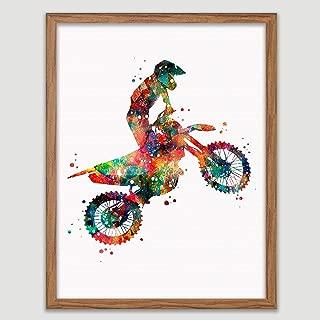 Motocross Watercolor Poster Motorsport Art Motocross Racer Print Motocross Rider Decor Motorbike Gift Idea Motocross Dirt Bike Wall Decor Great Gift for Motocross Rider