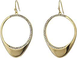Cole Haan Half Pave Open Teardrop Earrings