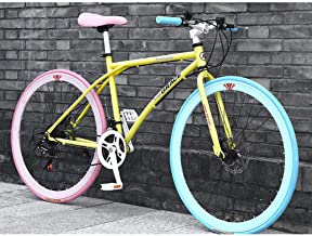 LWJPP Suspensión 26 pulgadas 24Speed ??bicicleta de montaña completa Frenos MTB engranajes de doble disco de bicicletas de montaña Multicolor