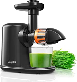 Masticating Juicer Bagotte Juicer Machines with Juice Recipes, Reverse Function