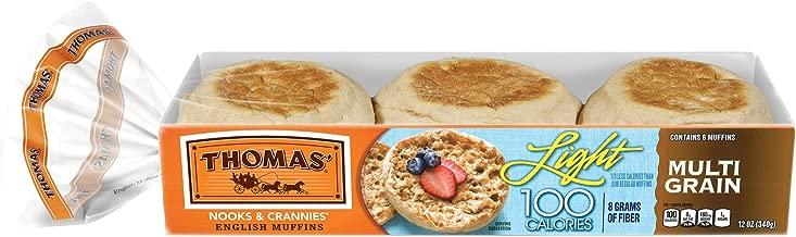 Thomas' Light Multi-Grain English Muffins, 6 Count