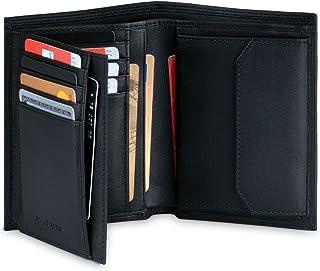 KORUTA® Leder Geldbörse Herren mit RFID Schutz I Portemonnaie Groß mit Münzfach I 13 Fächer I Echtleder Geldbeutel für Män...