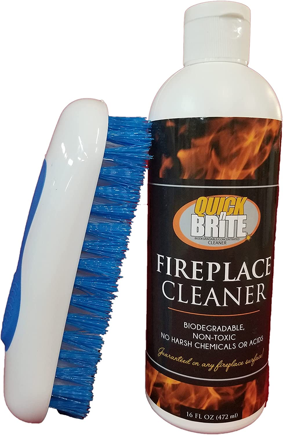 Financial sales sale Quick N Brite New color Fireplace Cleaner with Cleaning Brick for S Brush
