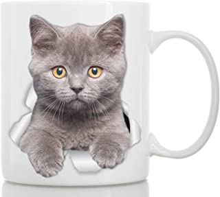 comprar comparacion Winston & Bear Taza de Gato Británico de Pelo Corto - Taza Gato Pelicorto Inglés de Cerámica para Cafe Gatito Británico - ...