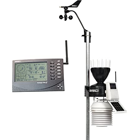 6153 Vantage Pro2 Wireless Weather Station with 24-Hour Fan Aspirated Radiation Shield and LCD Display Console