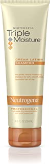 Neutrogena Triple Moisture Cream Lather Shampoo for Extra Dry Hair, Damaged & Over-Processed Hair, Hydrating with Olive, Meadowfoam & Sweet Almond, 8.5 fl. Oz (Pack of 3)