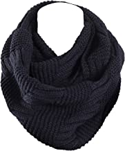 Marte&Joven Knit Infinity Scarf for Women Fashion Winter Circle Loop Scarves(Red/Yellow/Gray/White/Black)