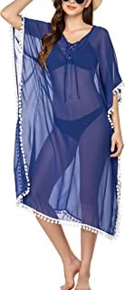 Chigant Womens Long Swimwear Cover Up Chiffon Slit Beachwear Swimsuits Coverups