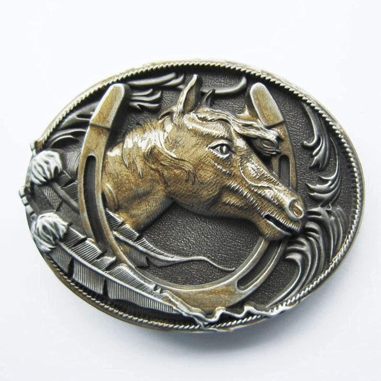 Gold Max 50% OFF Western Horse Horseshoe Under blast sales BUCKLE-WT058GD Belt Buckle Womens