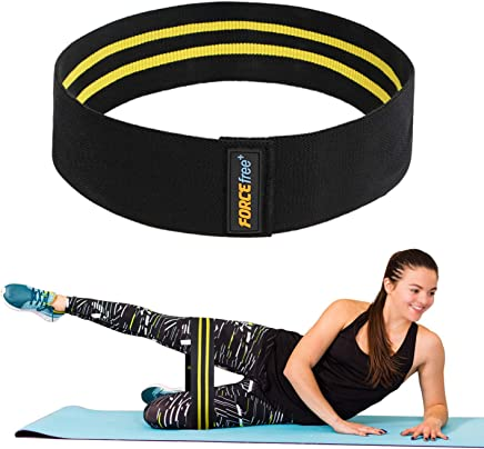 Forcefree+ Hip Resistance Bands - Exercise Bands for Leg, Thigh & Glutes and Butt, Booty - Non-Slip Workout Bands for Men and Women