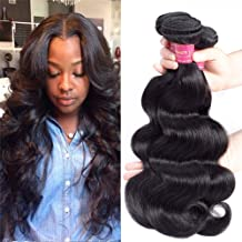 Geoyern Brazilian Body Wave 3 Bundles Virgin Hair Weave 10A Unprocessed Human Hair Extensions Weft Natural Color Remy Hair Weaveing 3pcs (18 20 22)