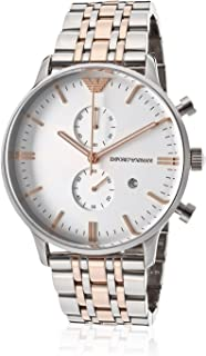 Emporio Armani Casual Watch For Men Analog Stainless Steel - Ar0399, Quartz Movement