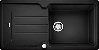 BLANCO 铂浪高 CLASSIC NEO 6 S 厨房水槽 花岗岩水槽 Silgranit PuraDur 花岗岩材料 1 件 亮黑色 60 cm Unterschrank - XL-Becken