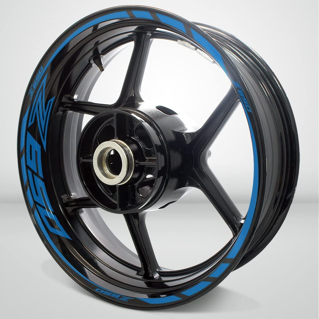 Superior Matte Blue Motorcycle Rim Wheel For Max 58% OFF Kawa Decal Sticker Accessory