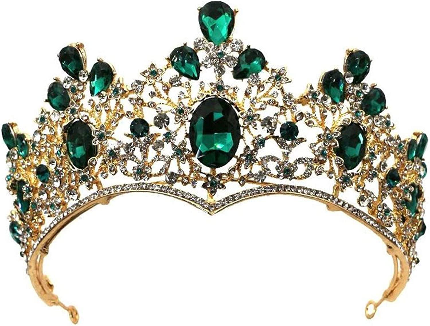 KUNQ Gift ear clip The Bride Is Married To The Green Jewel Crown The Queen Of The Air The Wedding Dress The Accessories.