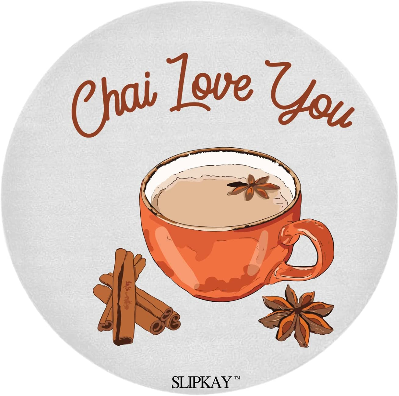 Food Pun Chai Love You Tea Round Large discharge sale Oakland Mall Rug
