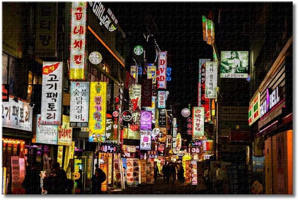 Korea Jongno Seoul Jigsaw Puzzles for Dealing full price reduction Los Angeles Mall Adults Wo Kids 1000 Pieces