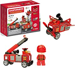 Magformers Amazing Rescue 50Piece, Wheels, Red Colors, Educational Magnetic Geometric Shapes Tiles Building STEM Toy Set A...