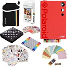 Polaroid Mint Instant Digital Camera (Red) Gift Bundle + Paper (20 Sheets) + Deluxe Pouch + 9 Fun Sticker Sets + Twin Tip Markers + Photo Album + Hanging Frames + 100 Sticker Frame Set