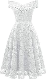 Best white lace tea length wedding dress Reviews