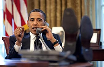 Gifts Delight Laminated 37x24 Poster: Barack Obama on Phone with Benjamin Netanyahu 2009-06-08