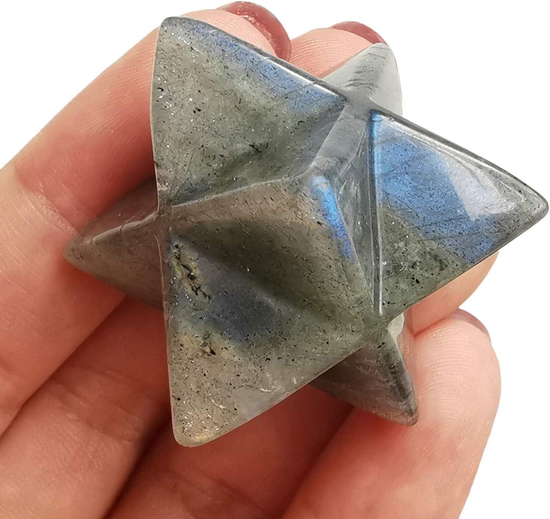Bacatgem Inventory cleanup selling sale Natural Moonstone Save money Merkaba Protection Sacred Med Crystal