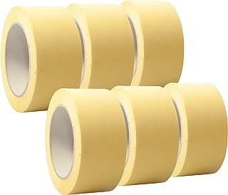 "6 Rollen ""Premium"" Malerkrepp/Abklebeband/Kreppband,19-75mm, Abmessungen:50mm x 50m"