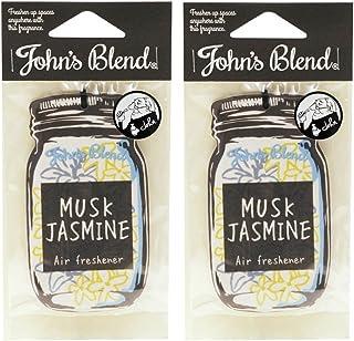 ノルコーポレーション John's Blend ルームフレグランス エアーフレッシュナー ムスクジャスミンの香り セット 2枚セット