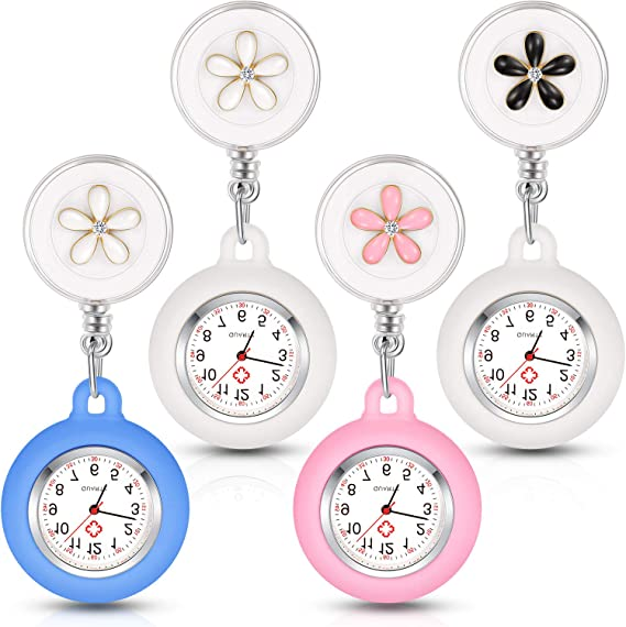 4 Pieces Nurse Watch for Nurses Doctors