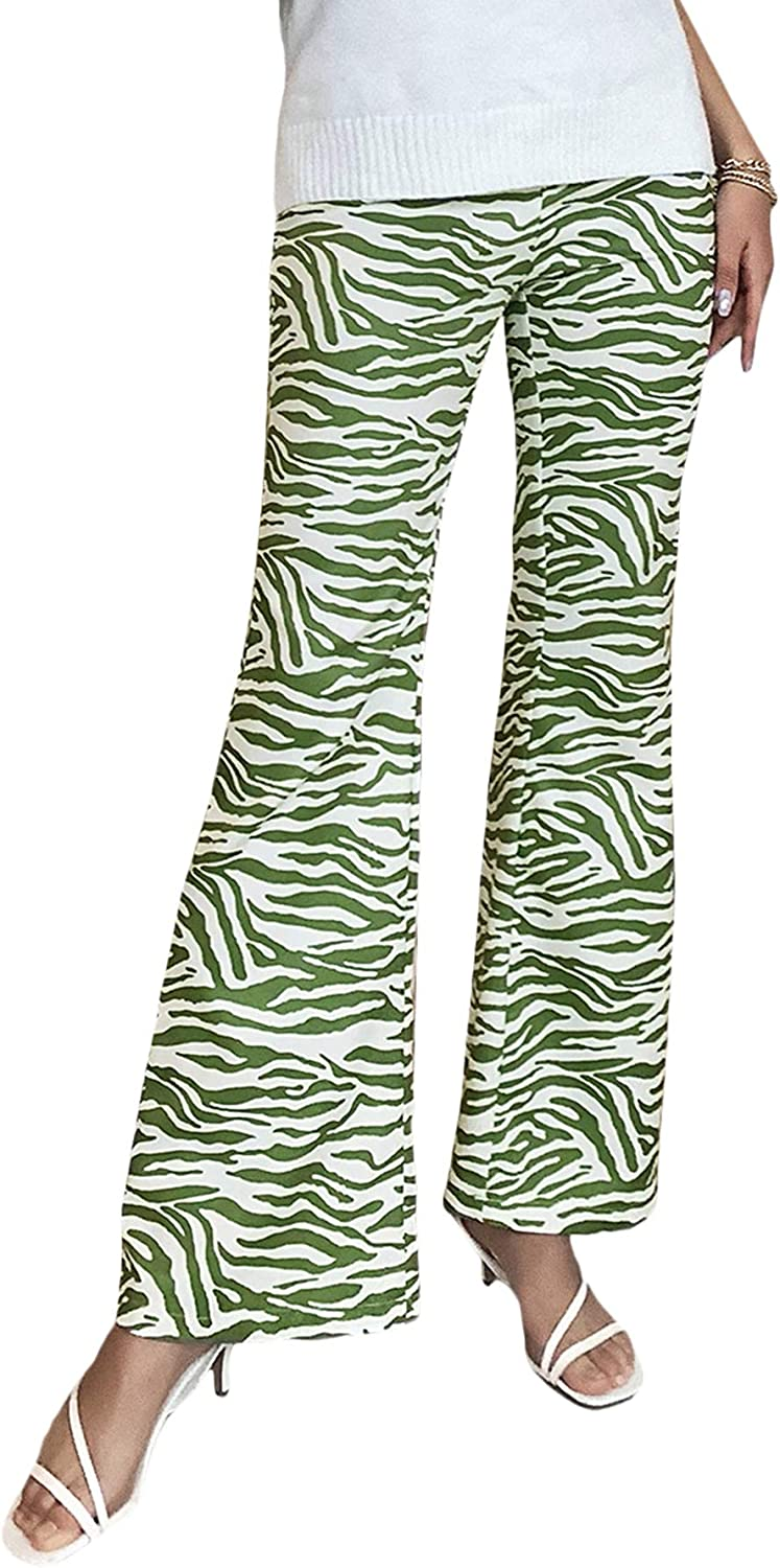 SOLY HUX Women's Casual High Waisted Flare Leg Pants Trousers