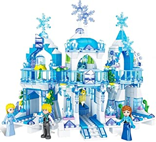 Nologo Safe Iceland Romance Blocks Castle Building Blocks QL2217 Compatible Music Featuring The Particles Building Blocks Puzzle Toy Building Blocks Assembled Girls Snow DIY Puzzles Building Blocks