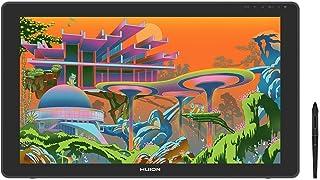 HUION Kamvas22 Plus 液晶ペンタブレット2020 量子ドットディスプレー 色域sRGB カバー率140% Android対応 オンライン授業やテレワークペン先の沈み込みを抑えたペンPW517同梱 アンチグレアガラス VESA対...