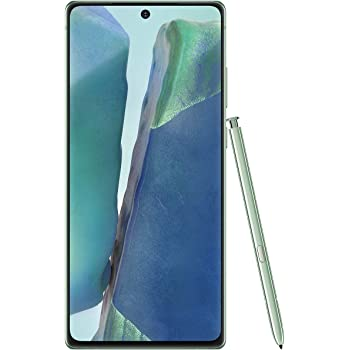 "Samsung Galaxy Note 20 (256GB, 8GB) 6.7"" AMOLED, Exynos 990, Factory Unlocked (AT&T, T-Mobile, Metro, Straight Talk) 4G International Model N980F/DS (Mystic Green w/ JN980 Clear Standing Case)"