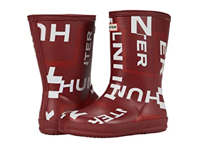 Hunter Kids First Classic Exploded Logo Boots (Toddler/Little Kid) (Autumn Stone Exploded Logo) Kid