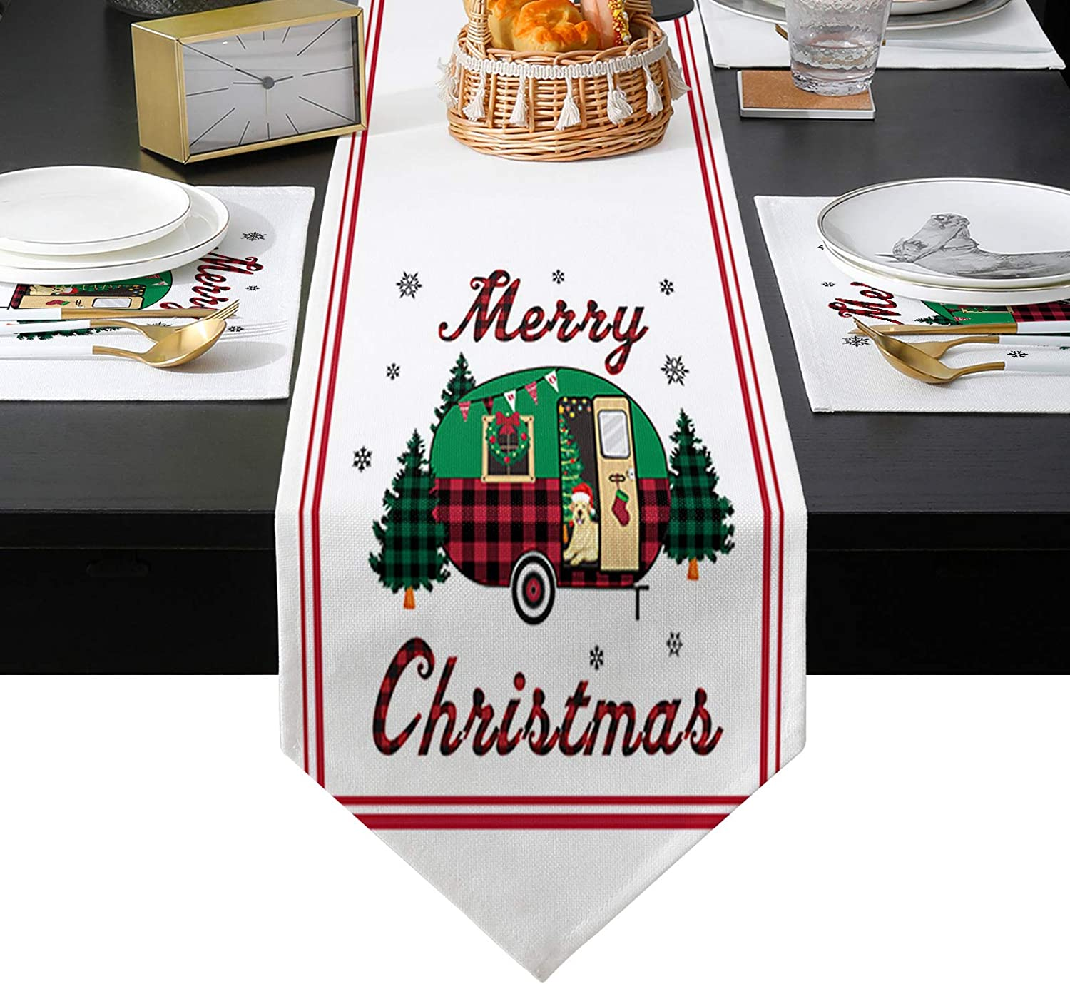Mail order Arts Language Placemats Set of 6 Runner and service Table 70 Long inches