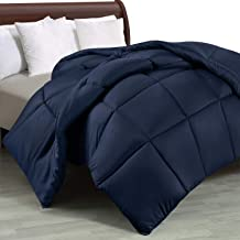 Utopia Bedding Comforter Duvet Insert - Quilted Comforter with Corner Tabs - Box Stitched Down Alternative Comforter (Queen, Navy)