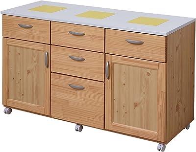 大川家具 アビライト 日本製 天然木 カウンター 幅120 イエローパイン キッチン収納シリーズ MN0010