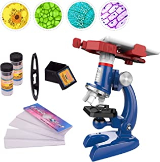 Sonia-520 Kid's Microscope Kit with Phone Holder LED, 100X 400X and 1200X Magnification