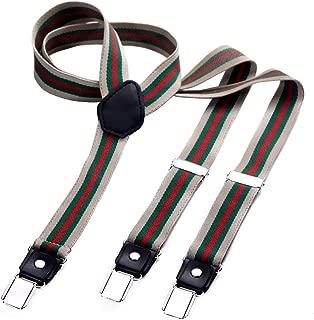 tirantes estrechos 2,5 cm para hombres con 3x clips en forma de Y - elástico y longitud ajustable - diferentes estilos