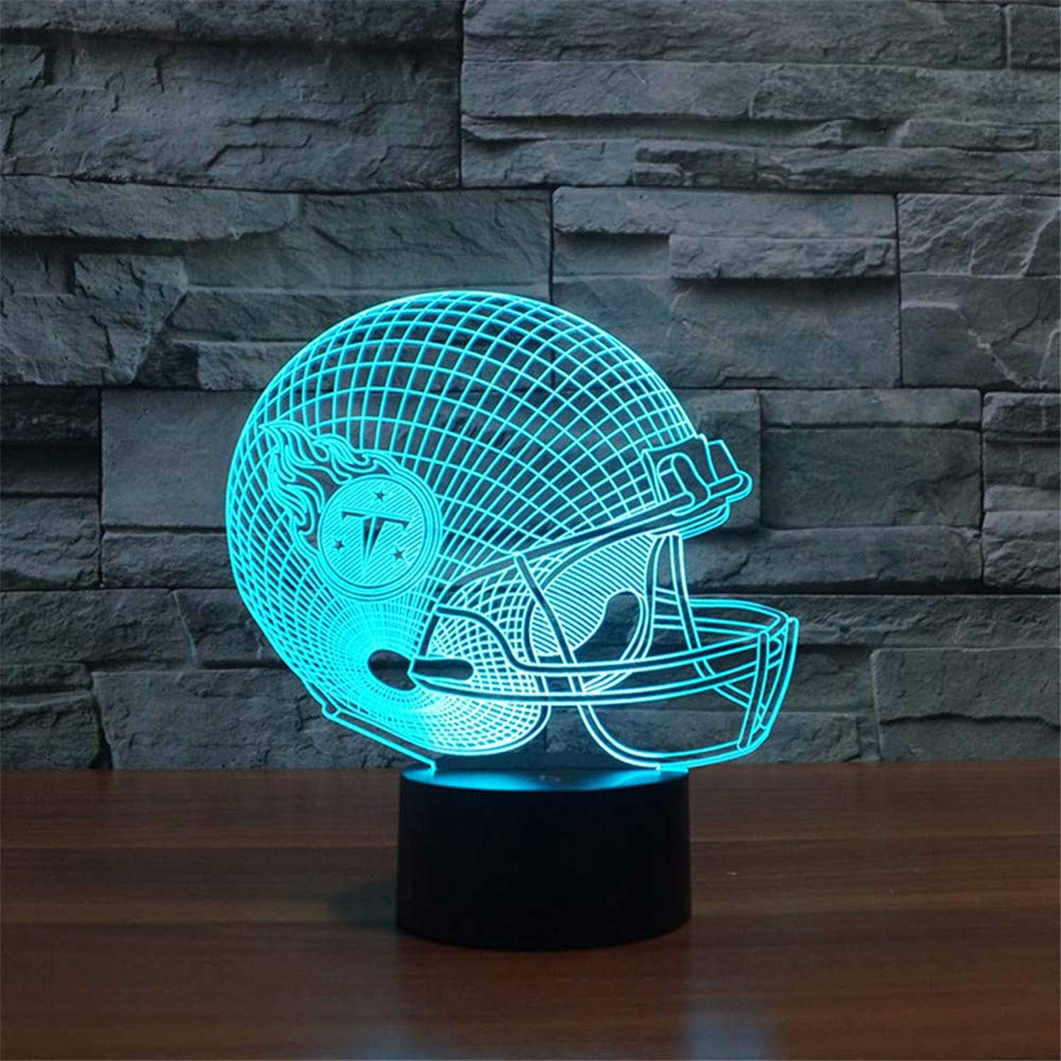 3D LED Night Light Table Desk Lamps 3D Optical Illusion Visual Lamp 7 colors Touch Table Desk Lamp for Christmas Birthday Gift Football