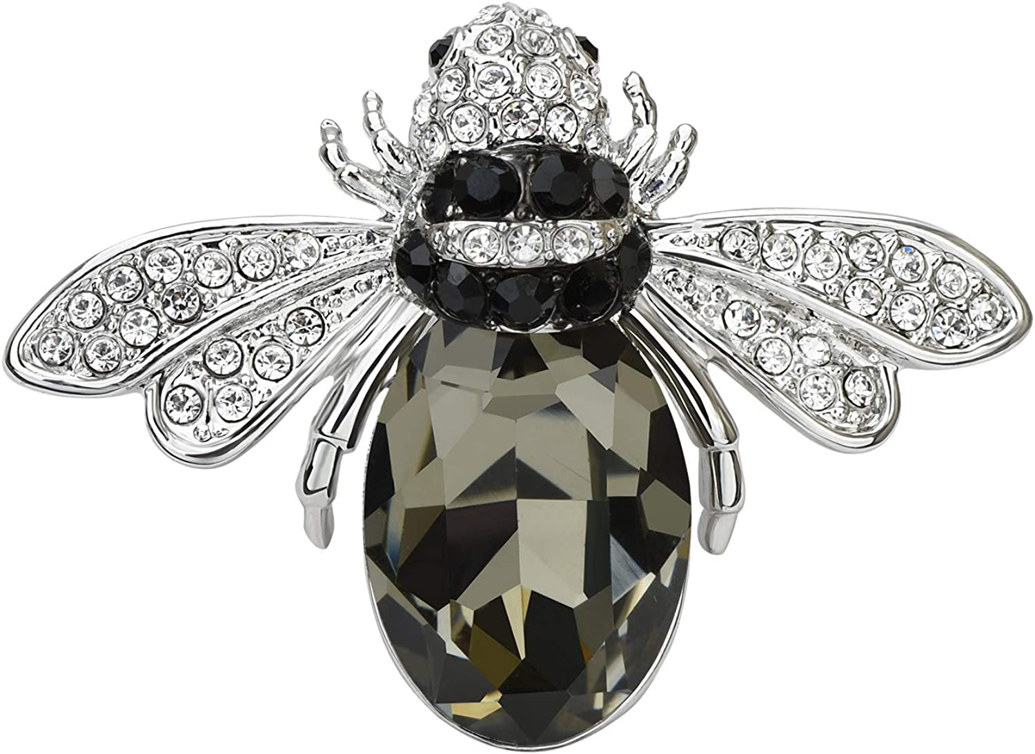 Lovely Crystal Bumble Honey Bee Insect Brooch Pins Collar Pin Lapel Pin Costume Jewelry for Women