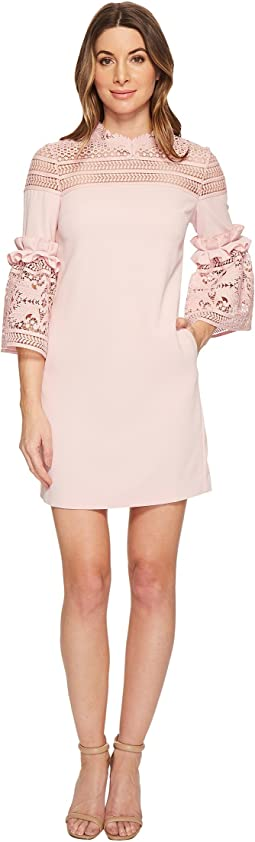 Lucila Lace Panel Bell Sleeve Tunic
