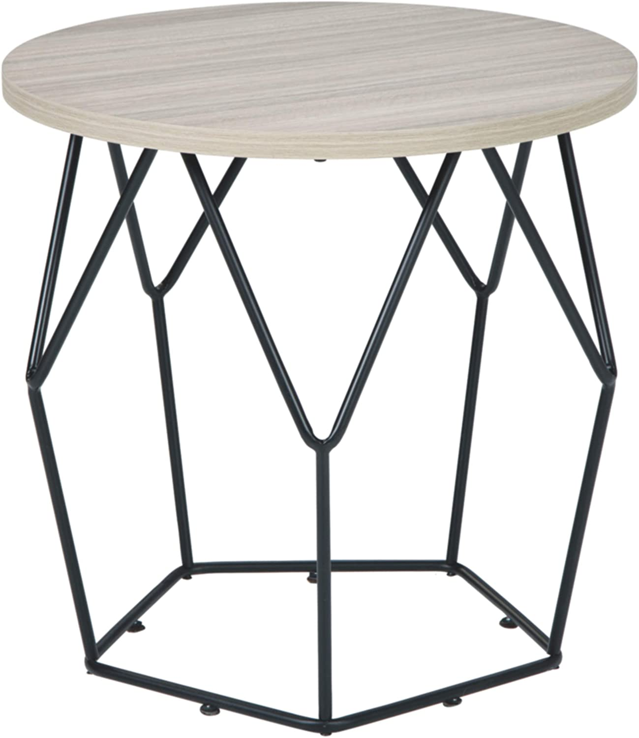 Signature Design by Ashley Waylowe Round End Table $77  Coupon